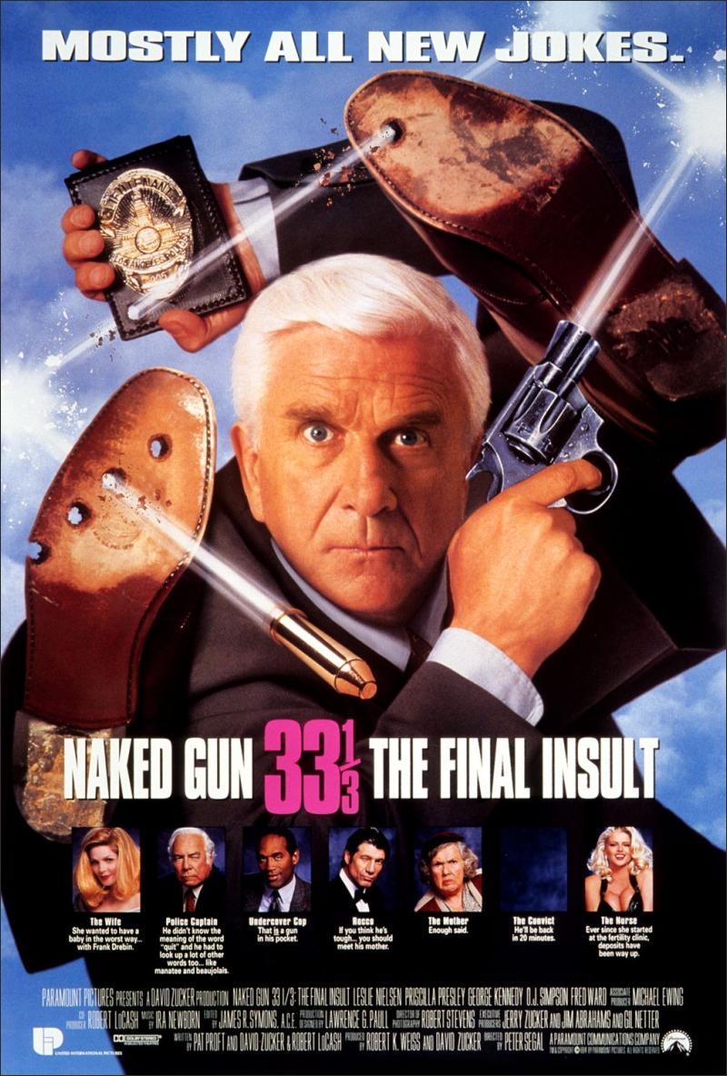 Fred Ward Kathleen Freeman Naked Gun 33 1/2 Original Movie