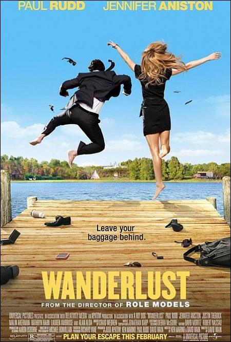 The first theatrical poster for Wanderlust