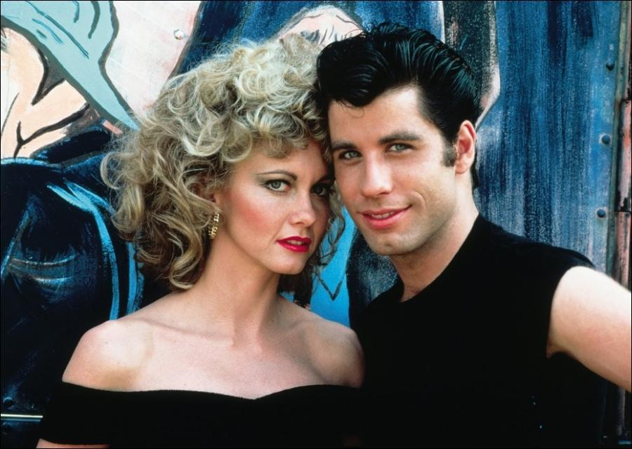 Olivia Newton-John e John Travolta em Grease: Nos tempos da brilhantina