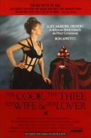 The Cook, the Thief, His Wife & Her Lover Movie Poster (1989)